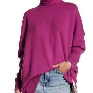 Free People Pink So Plush Pullover Sweatshirt